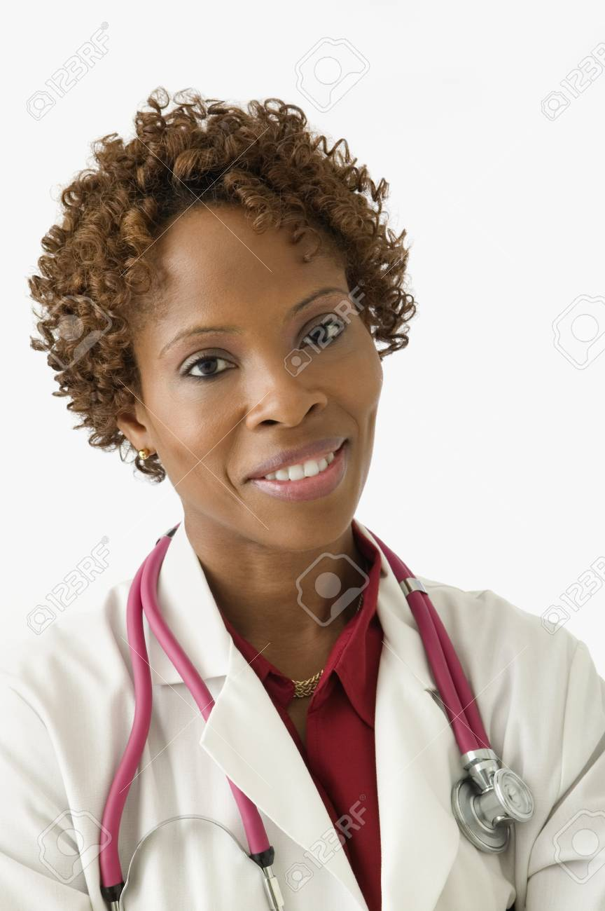 Female doctor smiling for the camera Stock Photo - 16074113