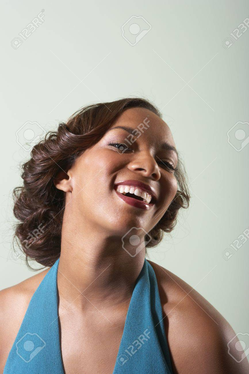 Young woman laughing Stock Photo - 16089349