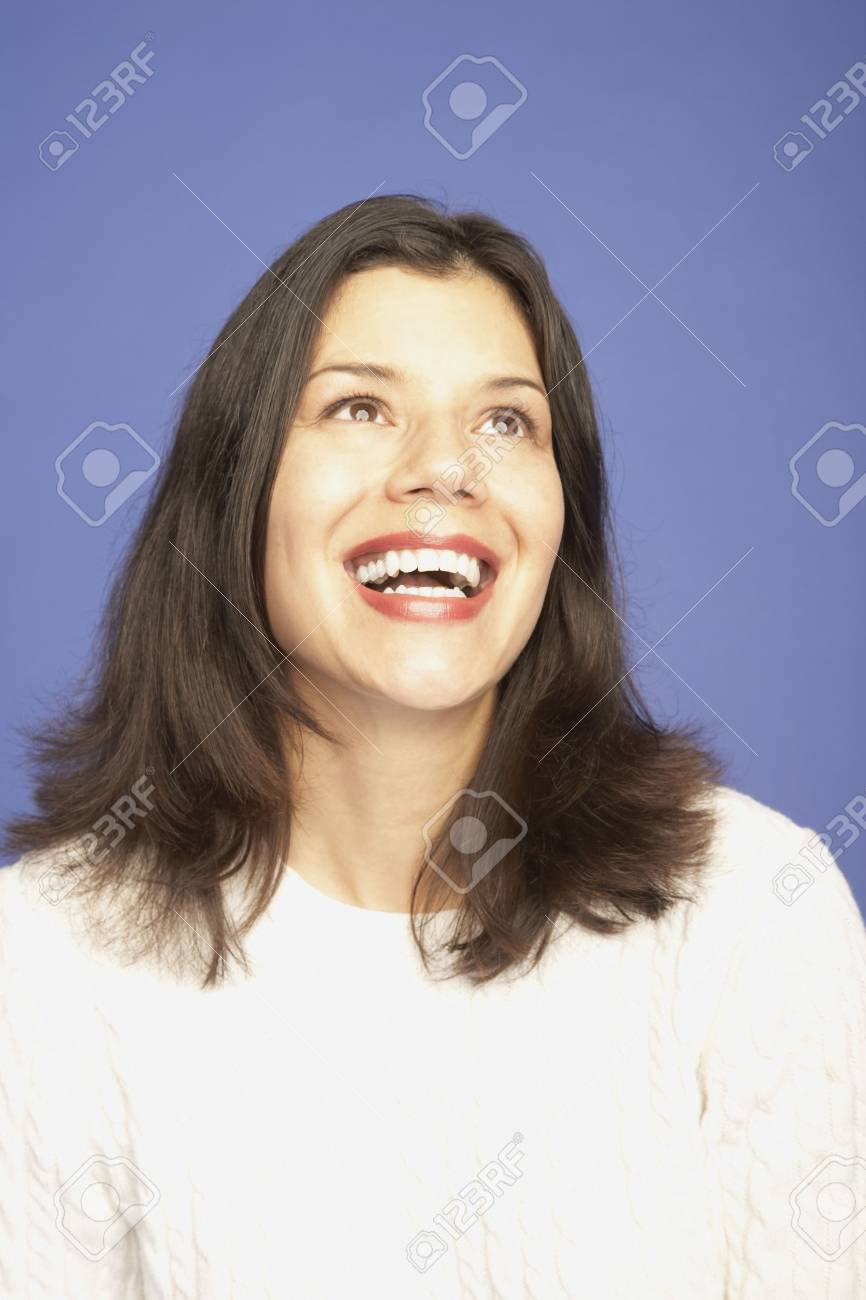 Studio shot of woman laughing Stock Photo - 16091649