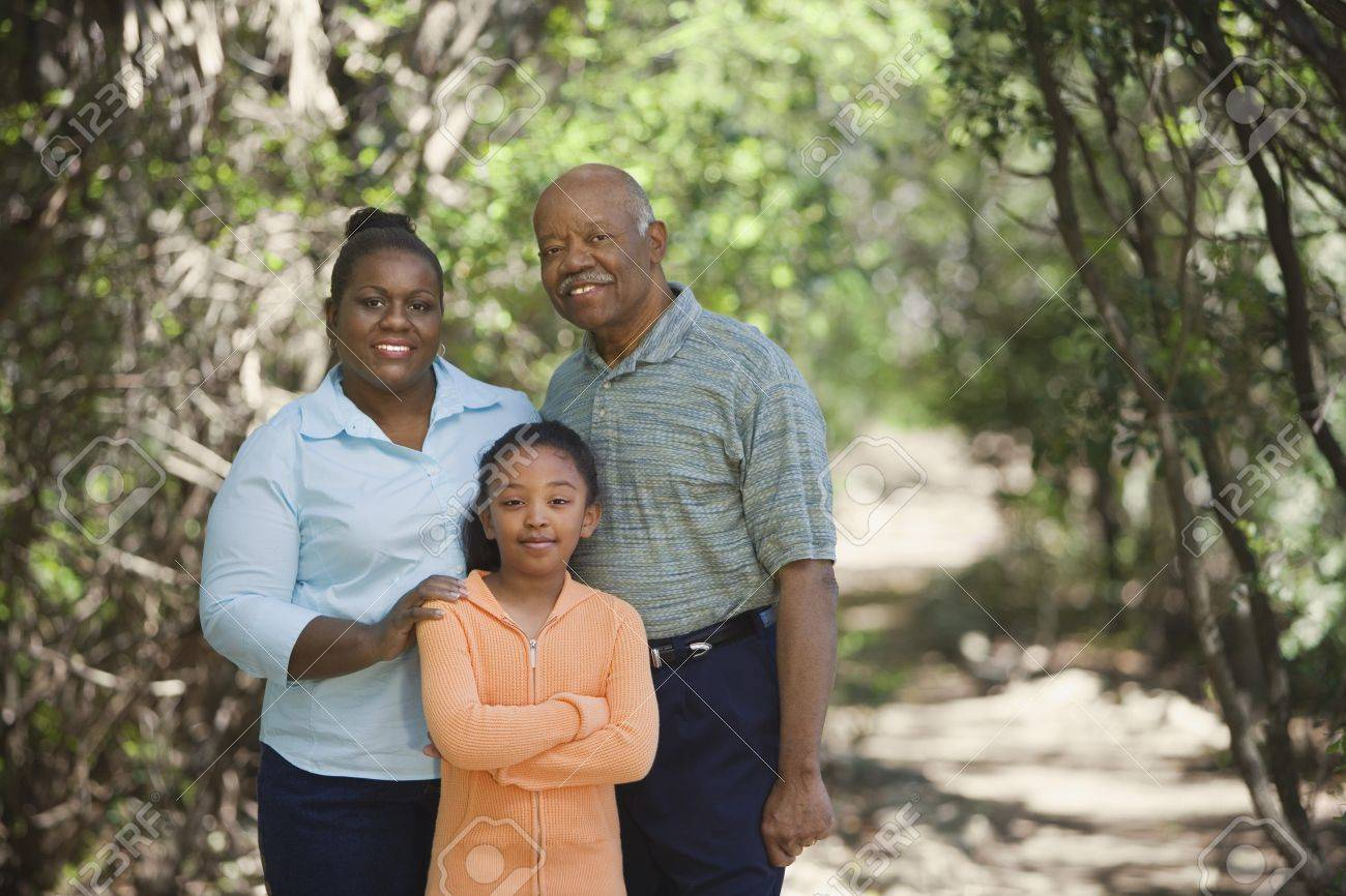African family outdoors Stock Photo - 16091696