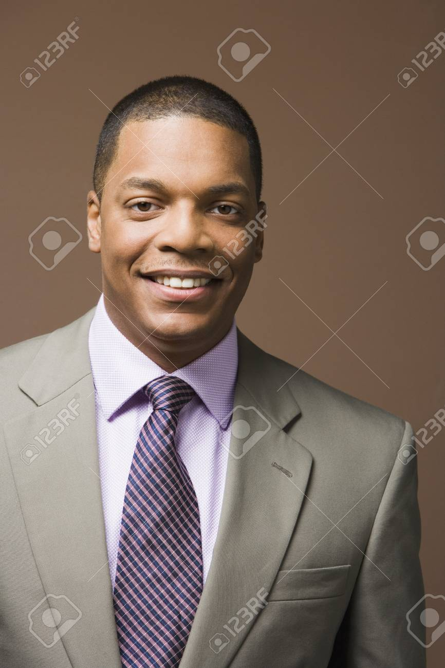 Close up of African businessman smiling Stock Photo - 16091714