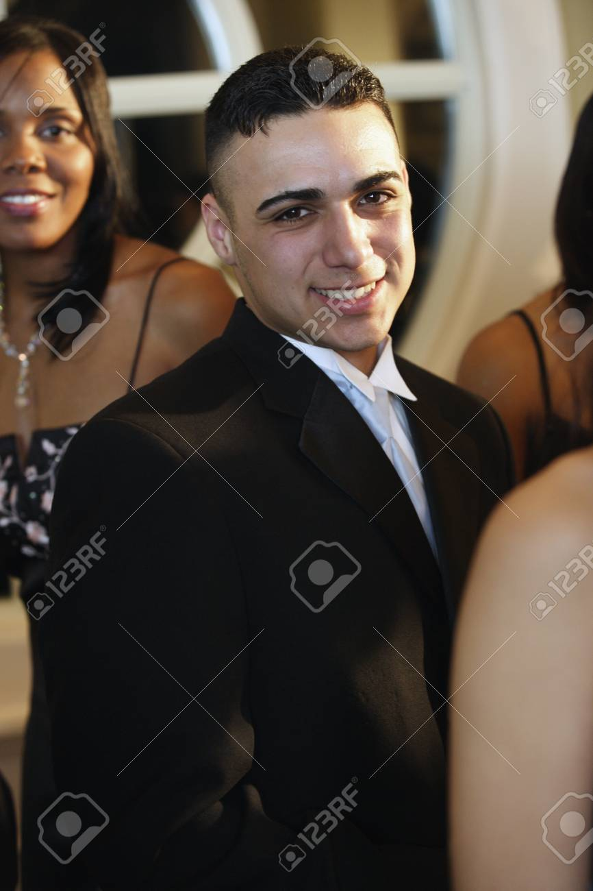 Hispanic Man Wearing Suit At Prom Stock Photo, Picture And Royalty ...