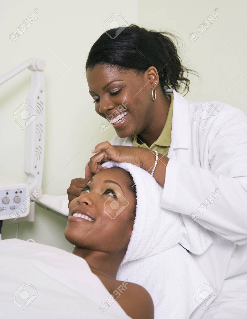 African Woman Receiving Spa Facial Treatment Stock Photo Picture And Royalty Free Image Image 35785723