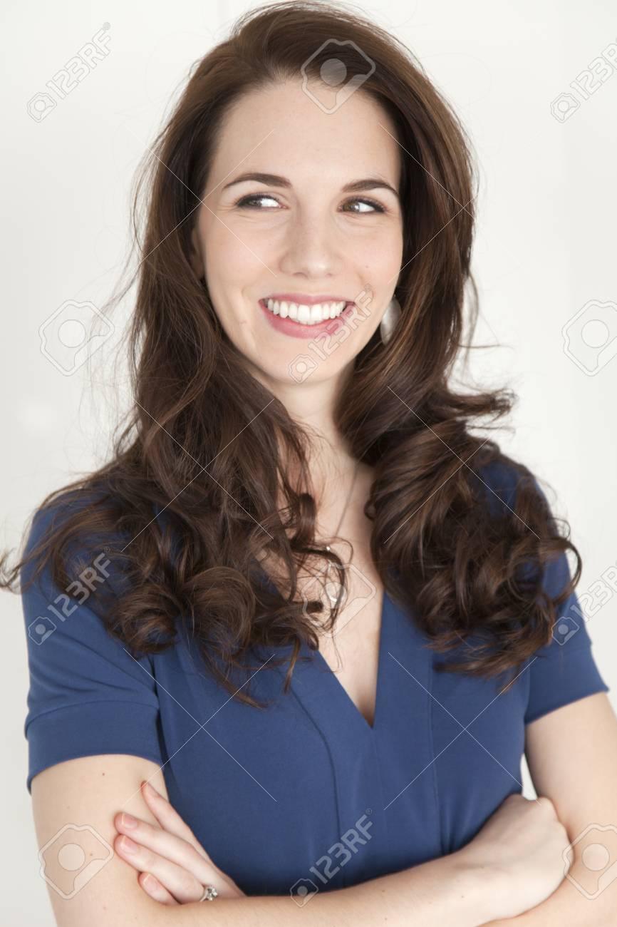 Smiling Caucasian businesswoman - 108642587