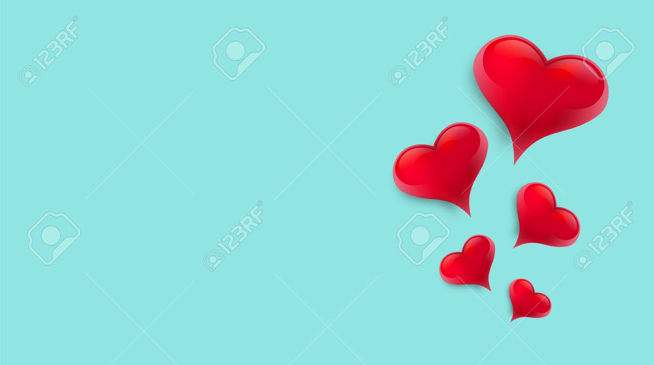 Blank background decorated with hearts. Vector illustration - 125400360