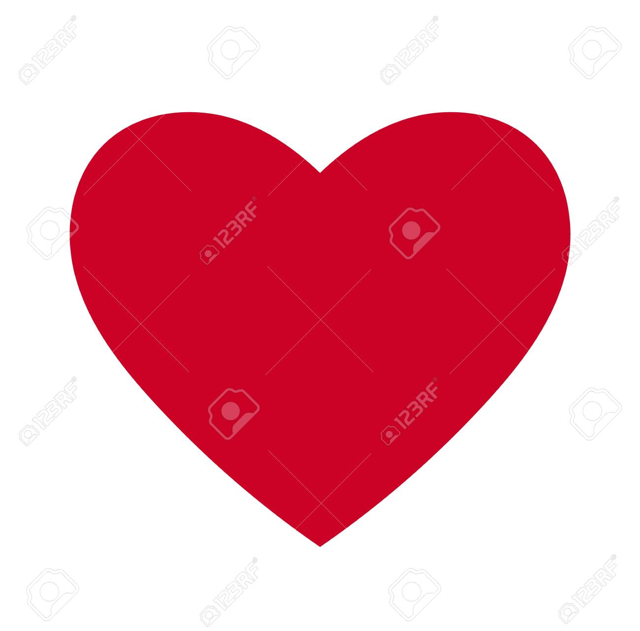 Heart, Symbol of Love and Valentine's Day. Flat Red Icon Isolated on White Background. Vector illustration. - Vector - 121676824