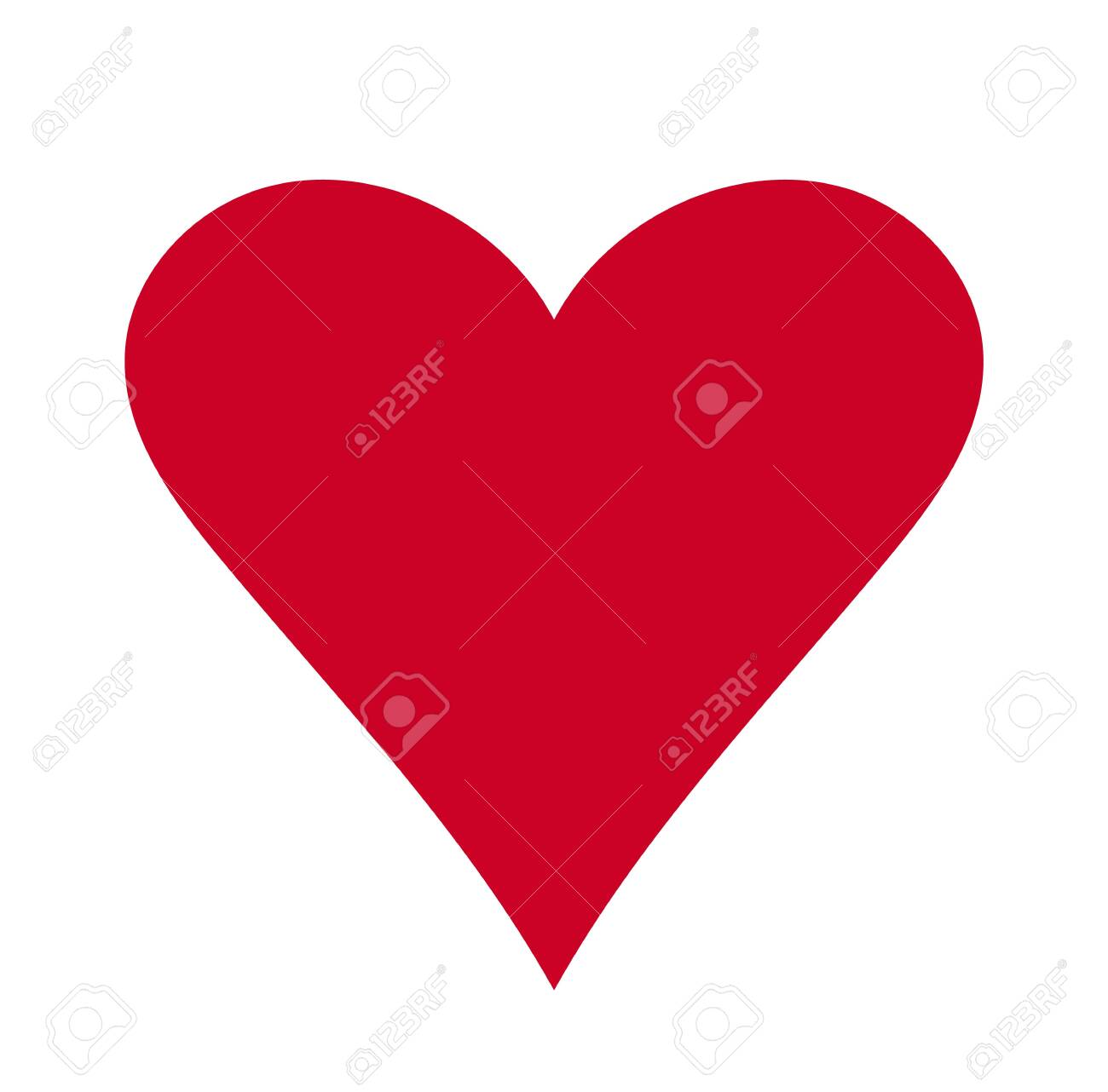 Heart, Symbol of Love and Valentine's Day. Flat Red Icon Isolated on White Background. Vector illustration. - Vector - 121676825