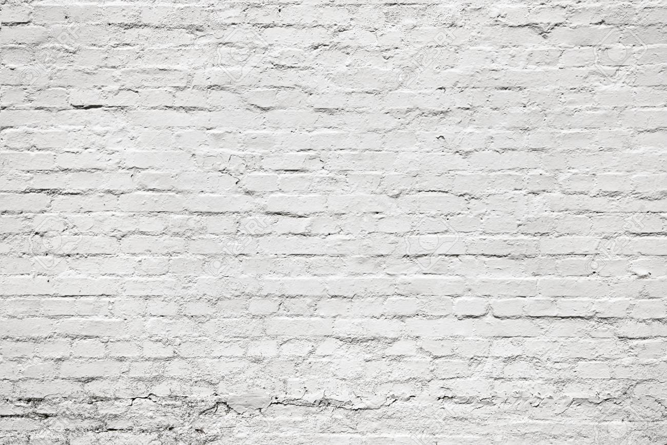 White Old Aging Brick Wall For Background Texture High Resolution