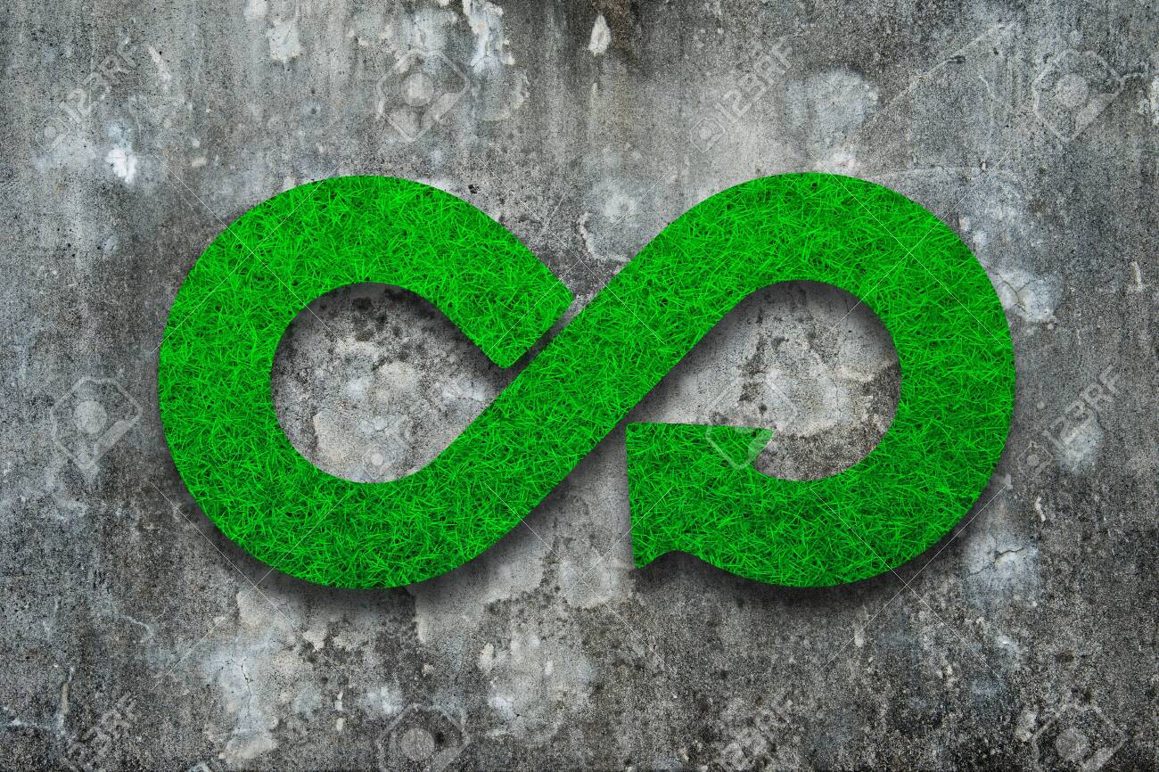 Green Eco Friendly And Circular Economy Concept Infinity Arrow