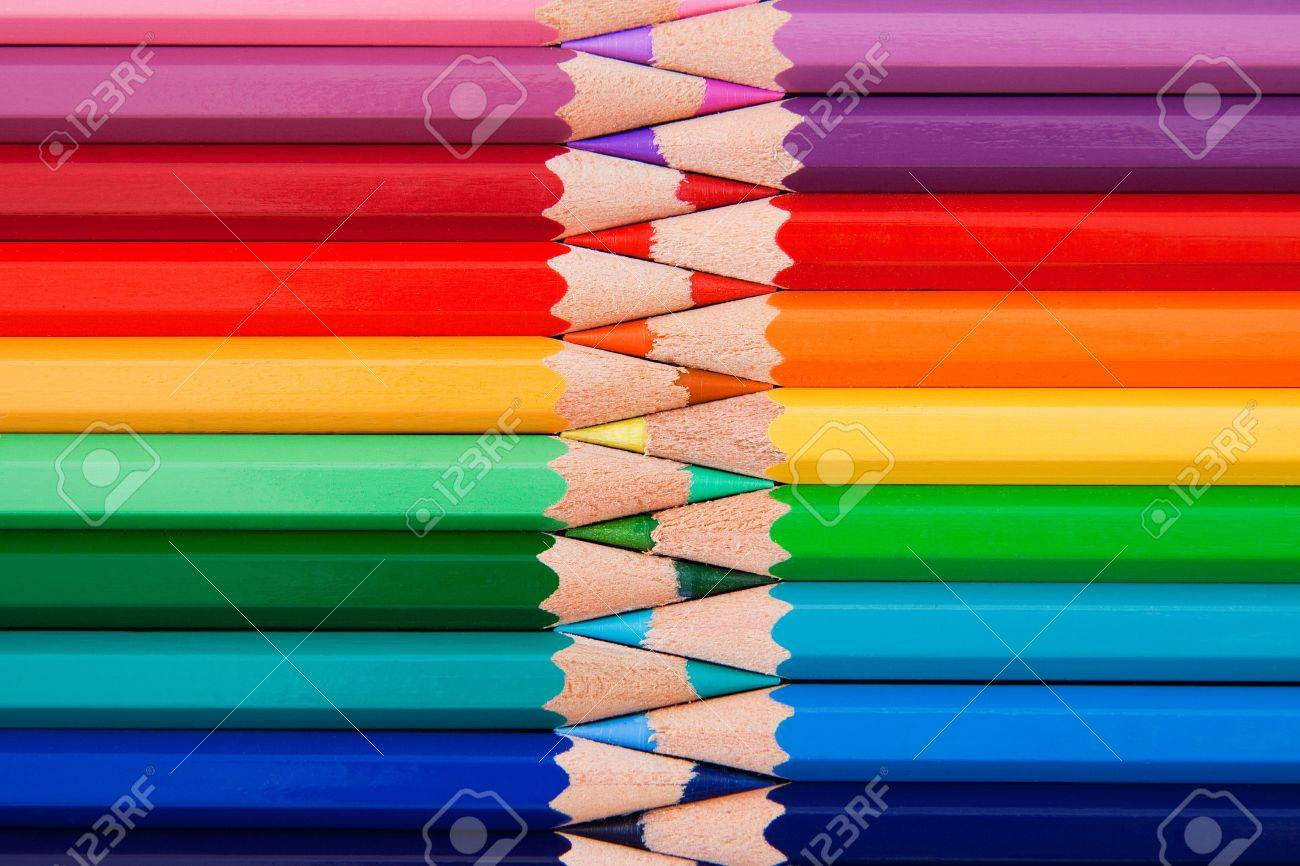 Colored pencils in zigzag position Stock Photo - 8046484