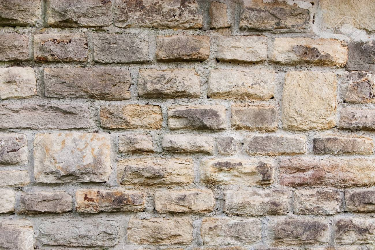 Wall texture with aged, old stones Stock Photo - 10202115
