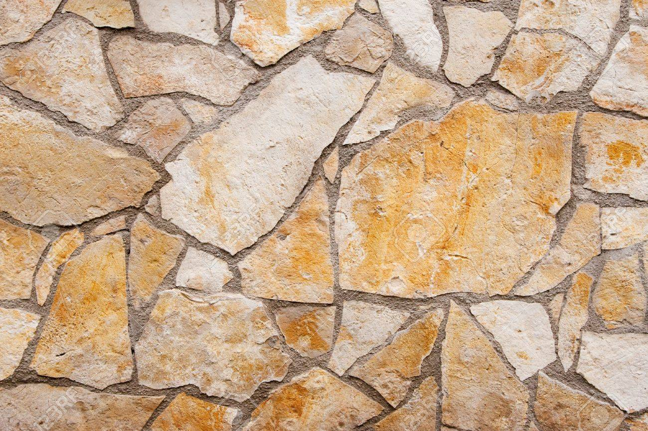 Wall Texture With Different Type And Color Of Stones Stock Photo ...