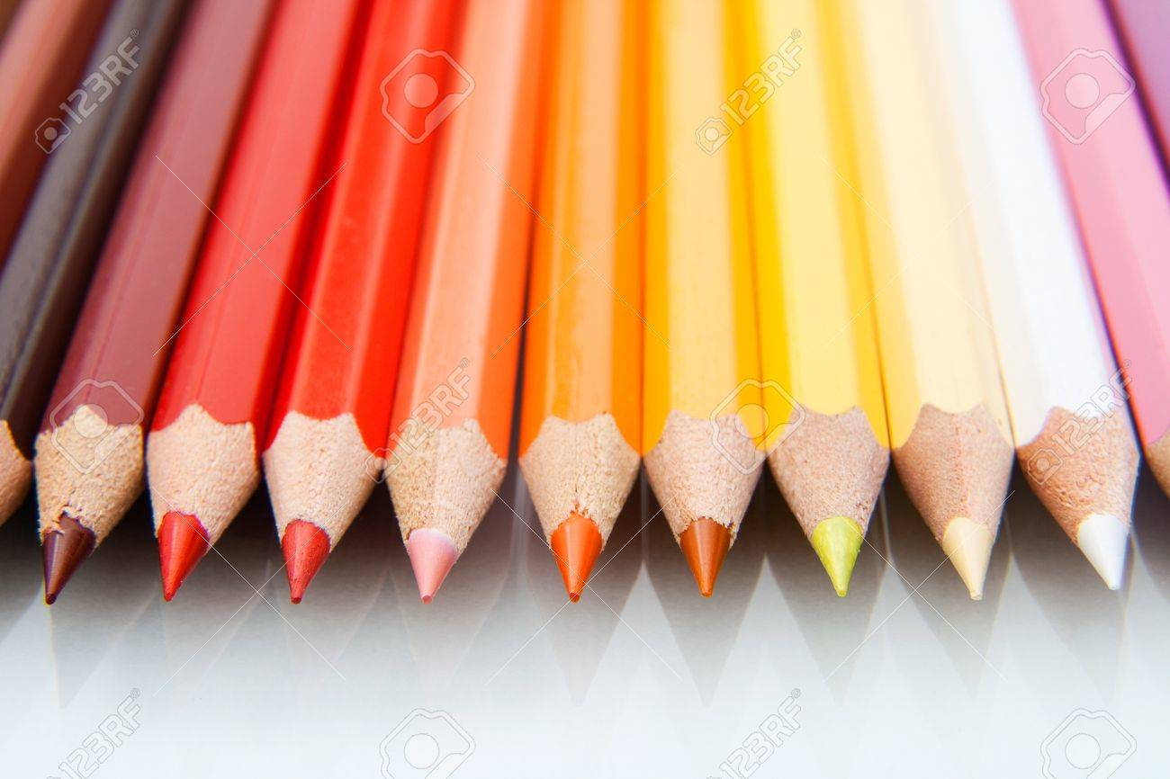 Macro photo from colored pencils Stock Photo - 13129538