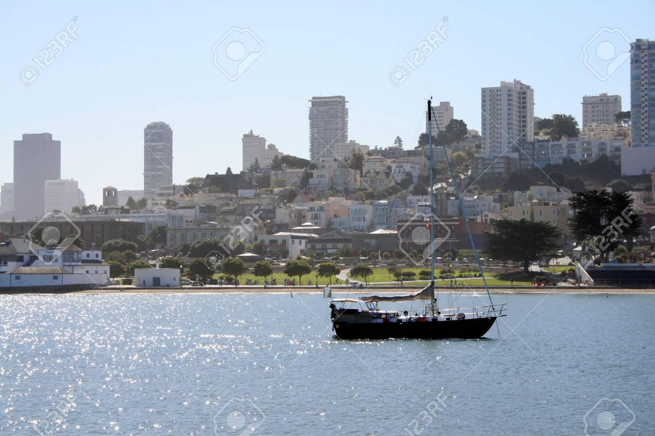 Sailboat on the water in beautiful San Francisco California. Stock Photo - 5904876