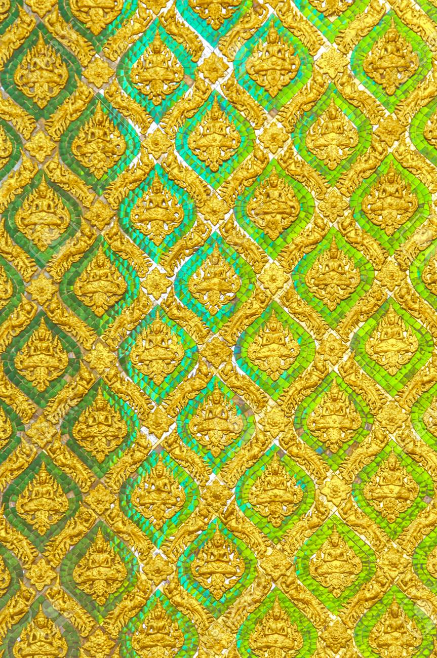 Line Thai Red Green Line Thai Traditional Thai Style Pattern Classic Stock Photo Picture And Royalty Free Image Image 74282003