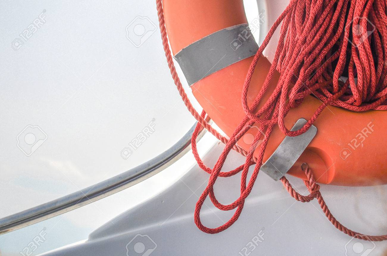 ring life boy on big boat obligatory ship equipment personal stock