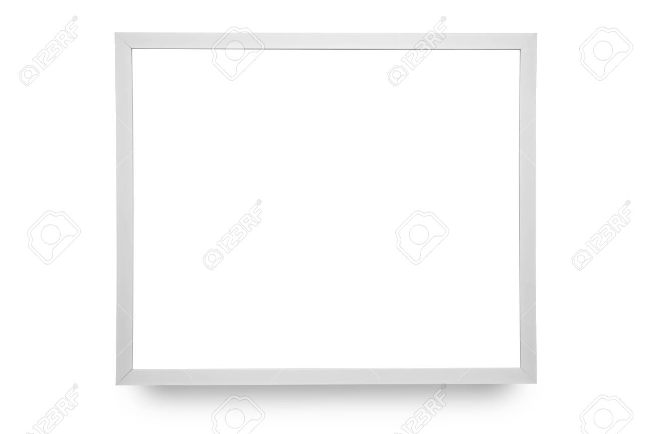 Close up white frame isolated on white background with clipping path. - 122754690