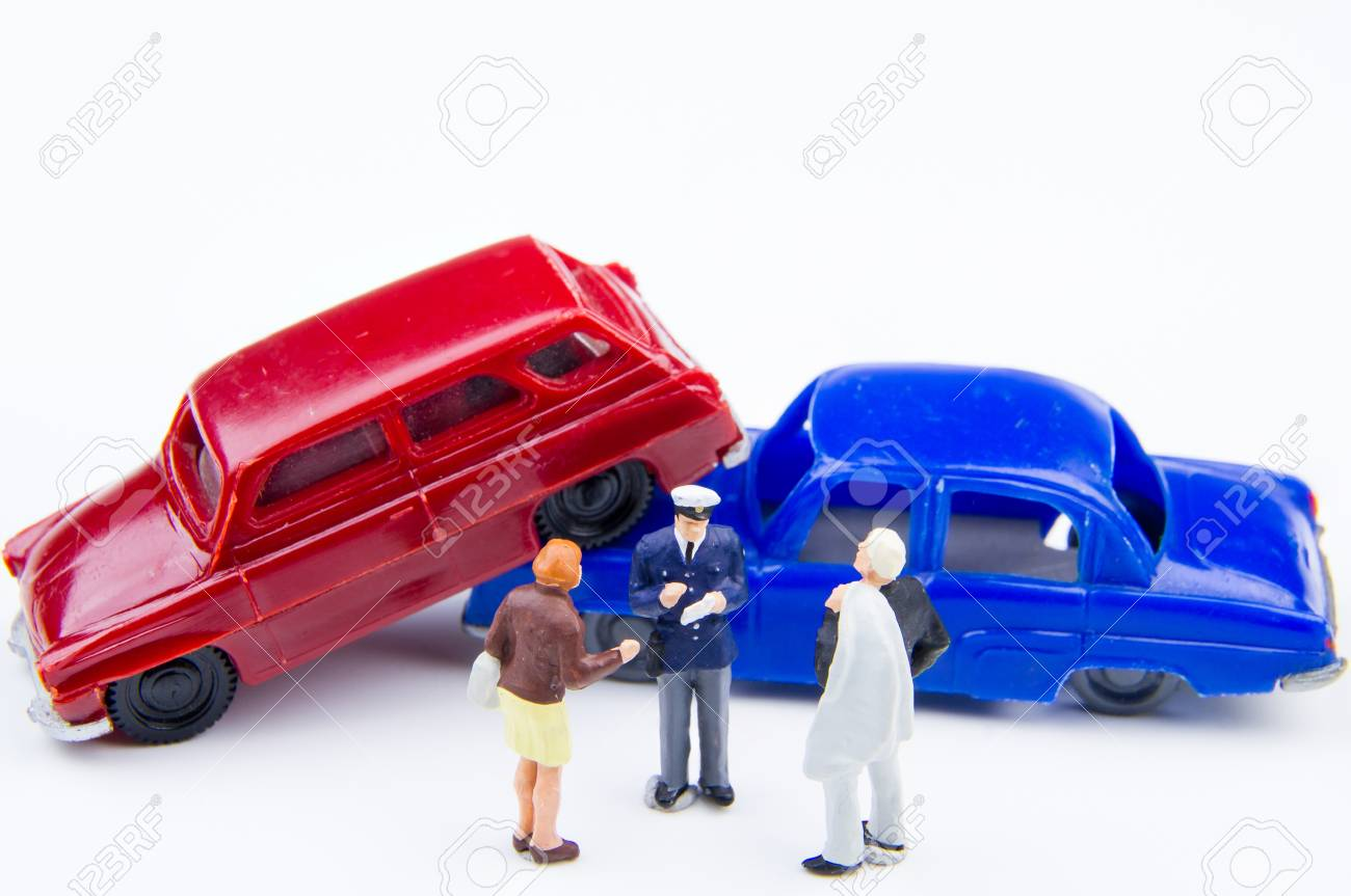 Miniature Tiny Toys Car Crash Accident Damaged Accident On The