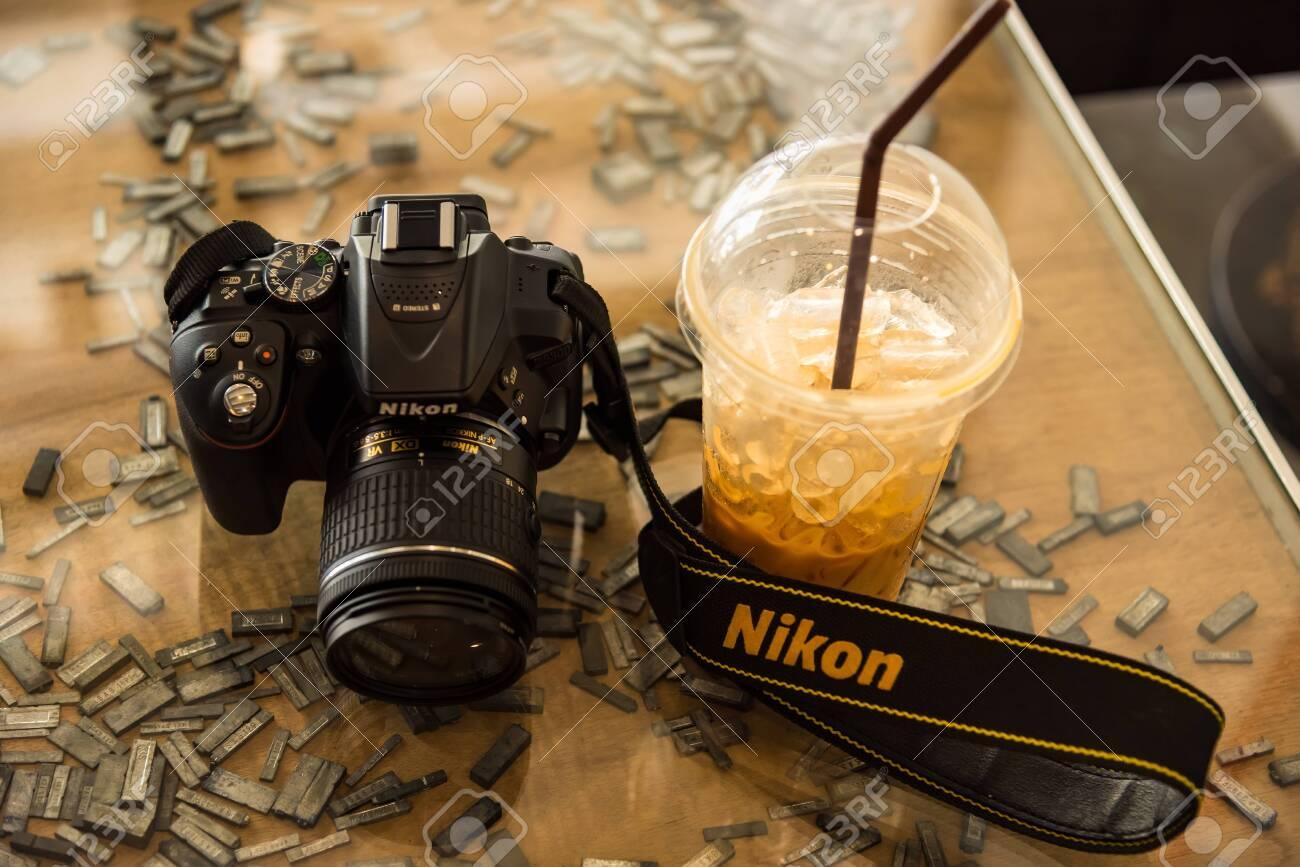 Phuket, Thailand - March, 30, 2019 : Nikon D5300 DSLR camera