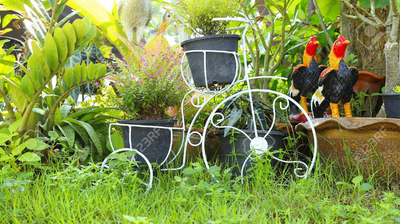 Decor Bicycle Home And Garden Decor Iron Plant Stand,Thailand Stock ...