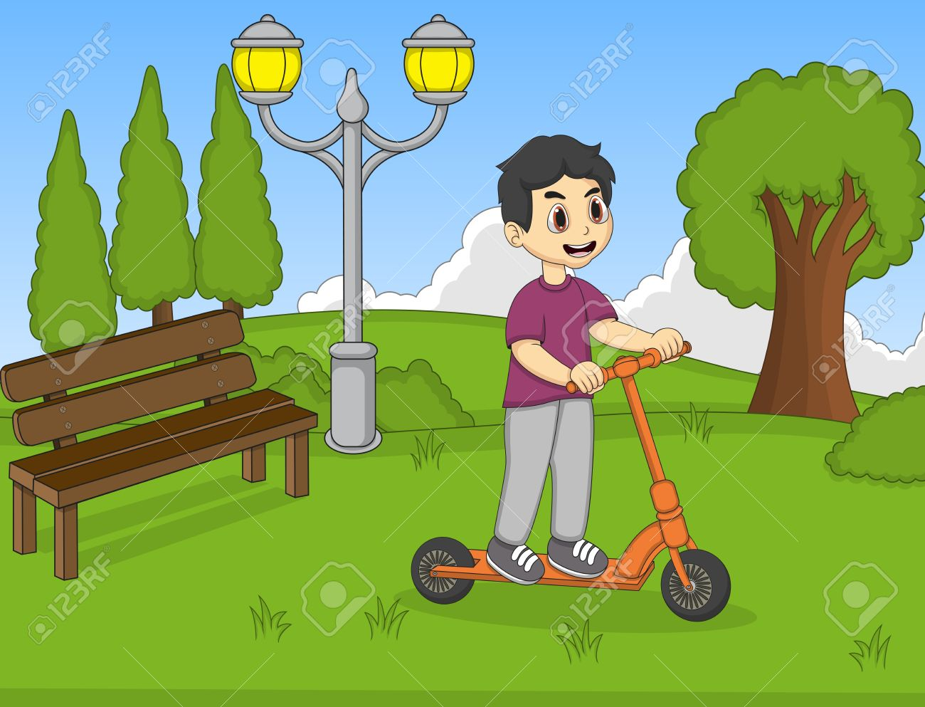 Friendly Clipart Play School Kid - Rainbow With Garden And Children, HD Png  Download - vhv