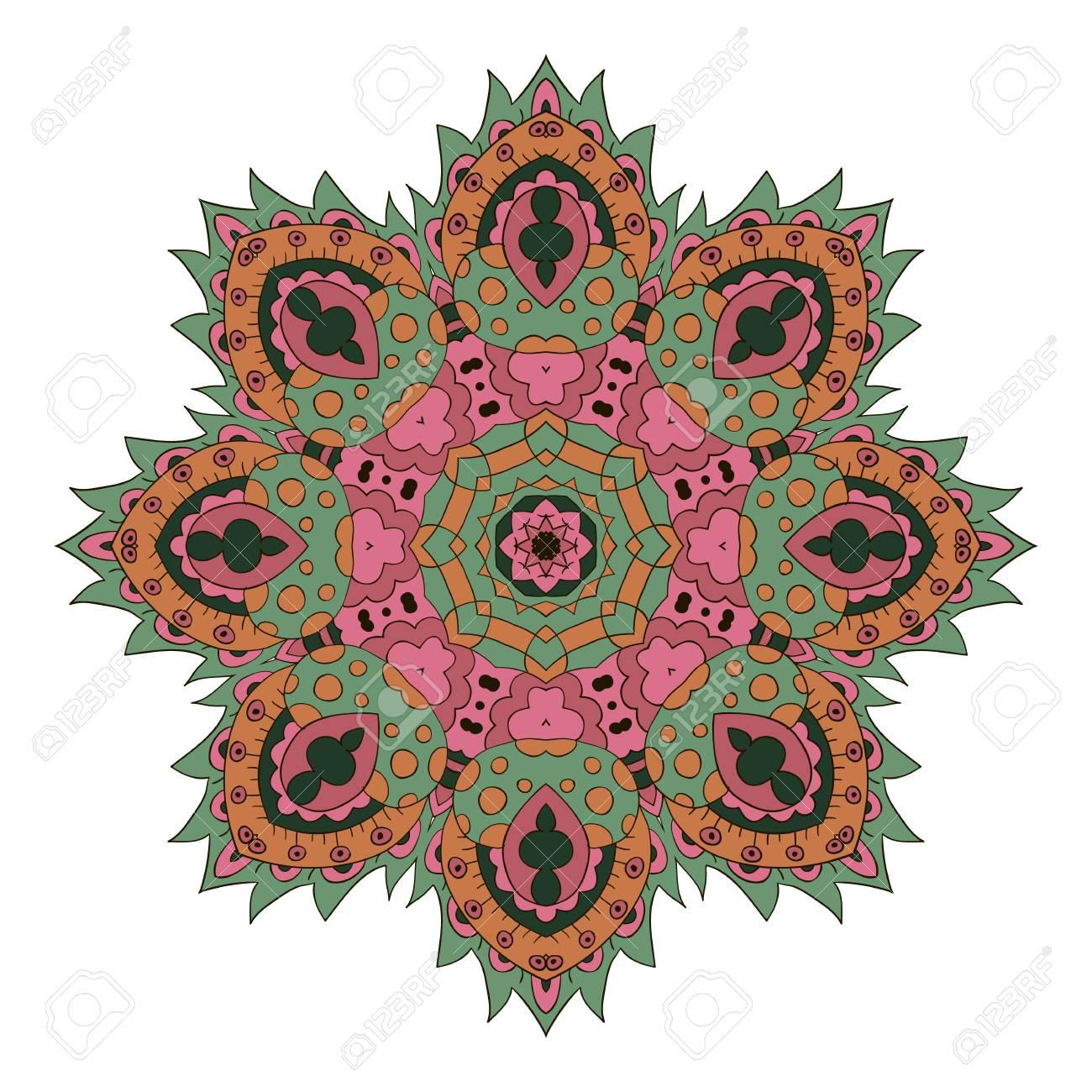 Mandala. Zentangl Runde Verzierung. Entspannen Sie Sich. Meditation ...