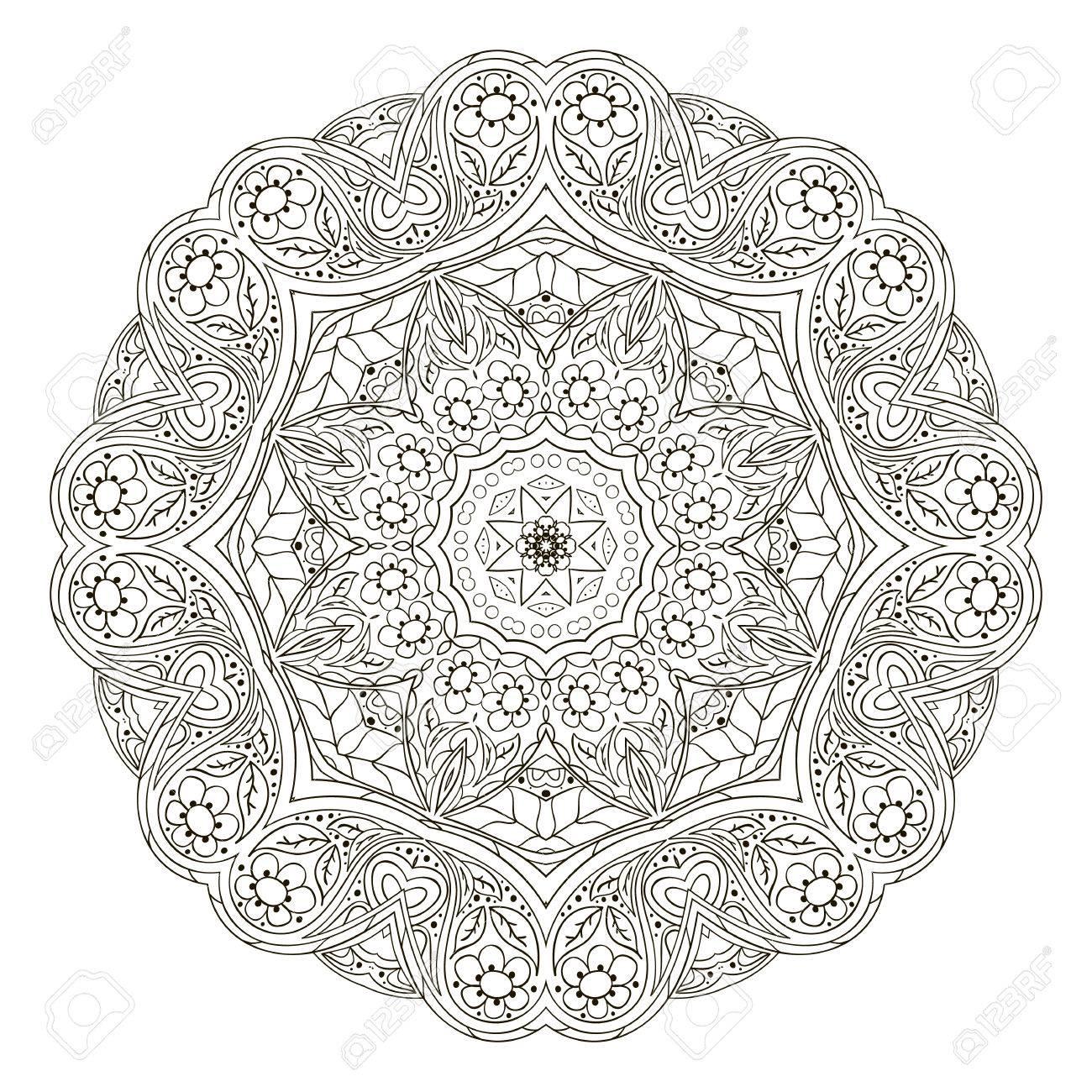 Mandala Muster. Runder Ornament Für Ihre Kreativität. Zentangl ...