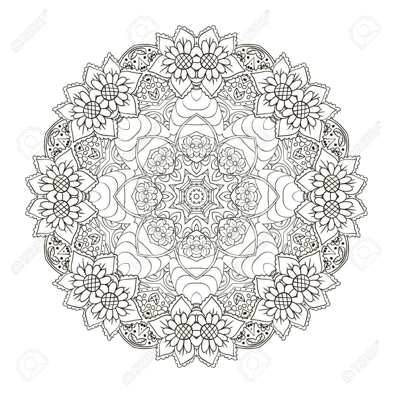 Orientalisches Muster Traditionelle Runde Verzierung. Mandala ...