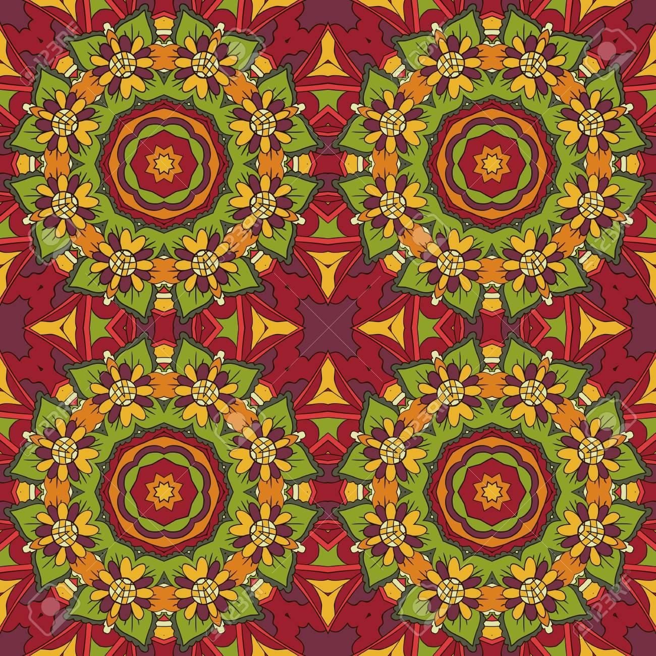 Motif Oriental Ornement Sans Couture Traditionnel Mandala Fleur