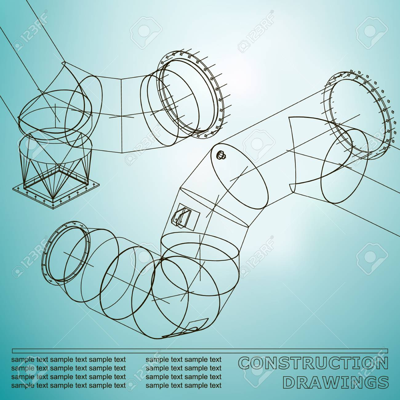 Drawings of steel structures pipes and pipe 3d blueprint of drawings of steel structures pipes and pipe 3d blueprint of steel structures background malvernweather Choice Image