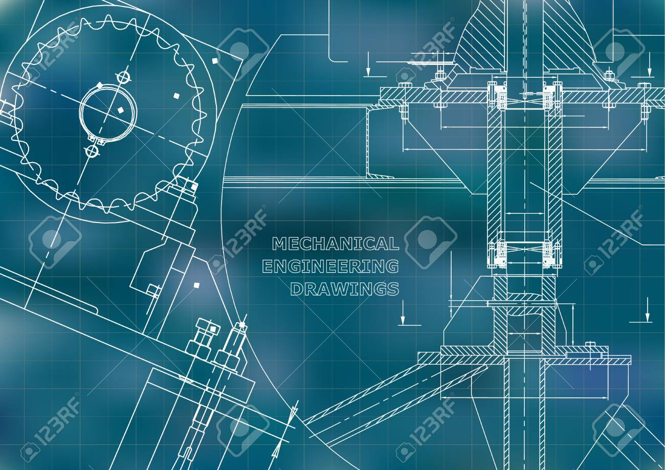 Blueprints mechanical construction technical design engineering blueprints mechanical construction technical design engineering illustrations banner blue grid malvernweather Image collections
