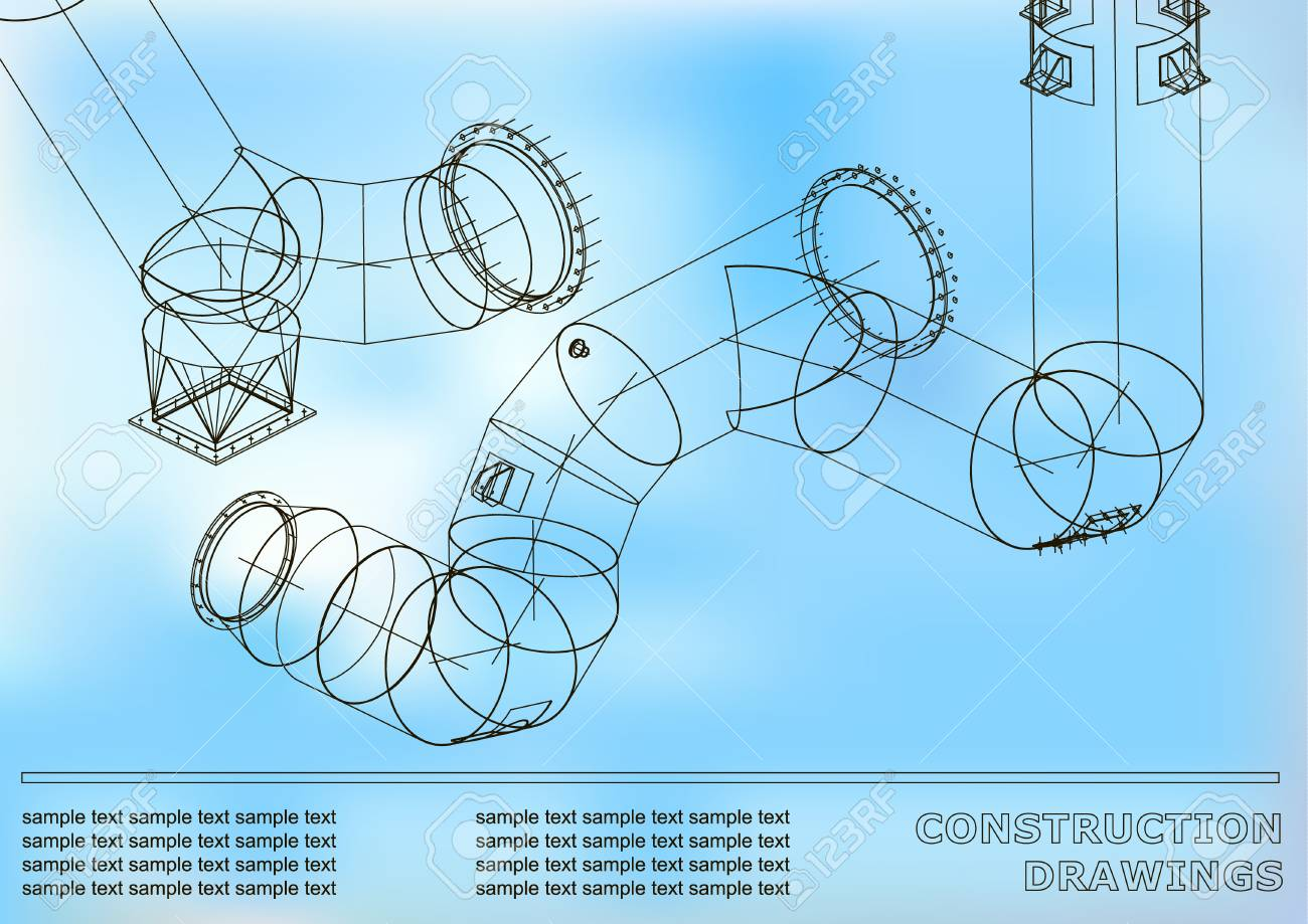 Drawings of steel structures pipes and pipe 3d blueprint of drawings of steel structures pipes and pipe 3d blueprint of steel structures cover malvernweather Images