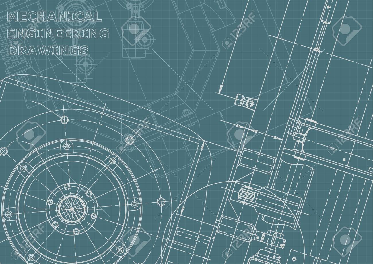 Corporate Identity. Blueprint. Vector engineering illustration. Cover - 144292758