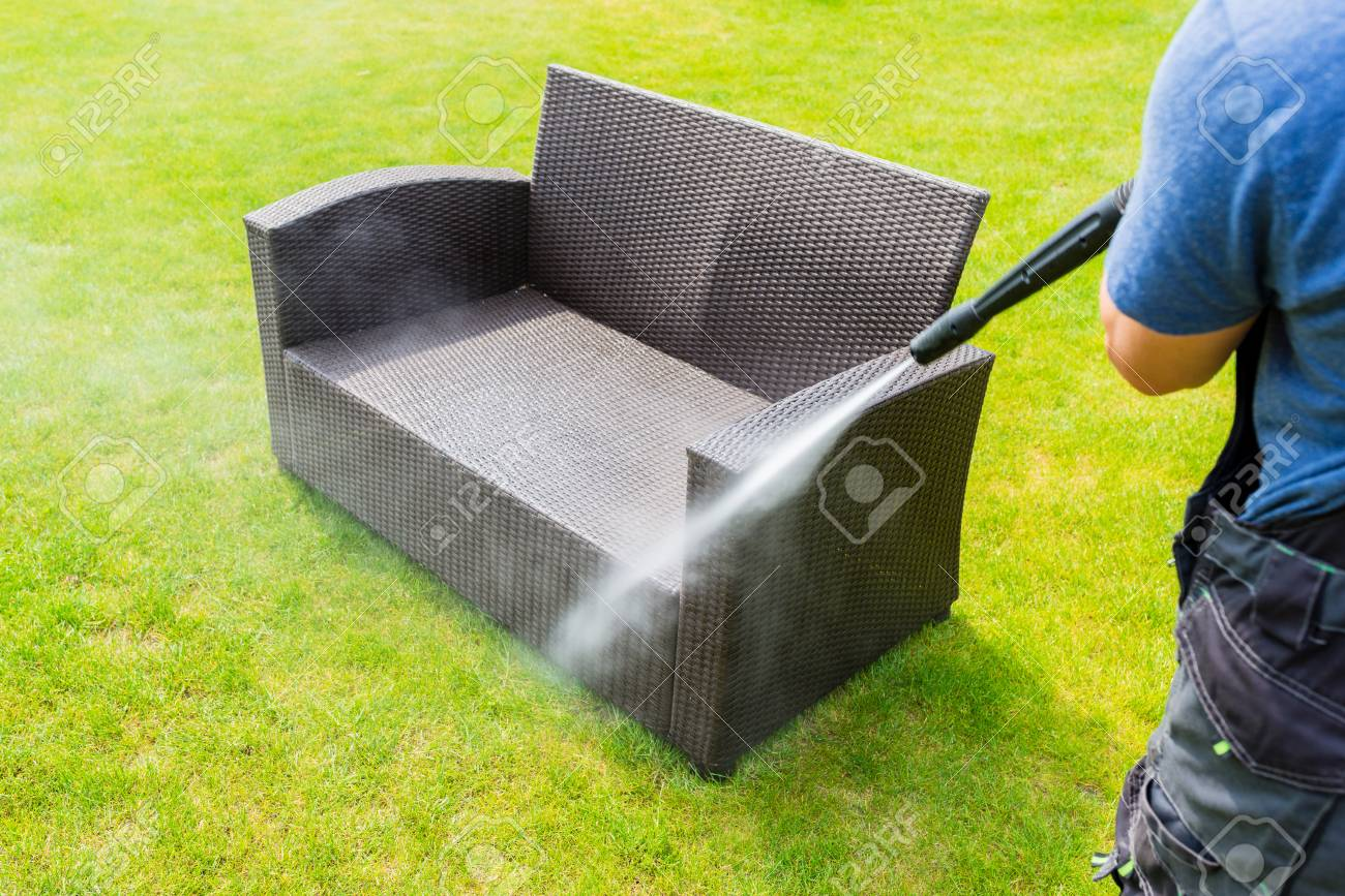 Sensational Power Washing Garden Furniture Made Of Rattan Interior Design Ideas Philsoteloinfo