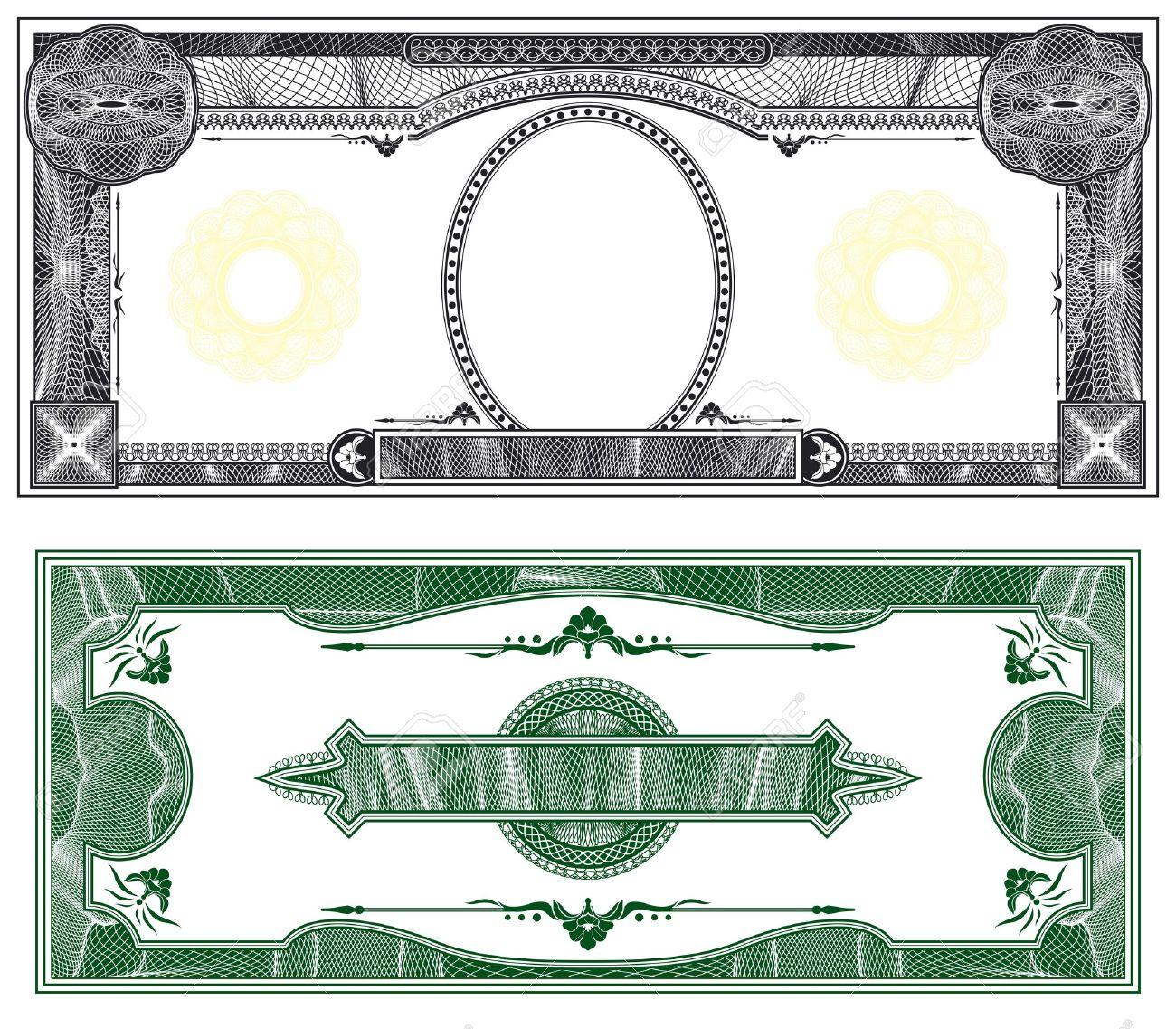 billet de banque vierge