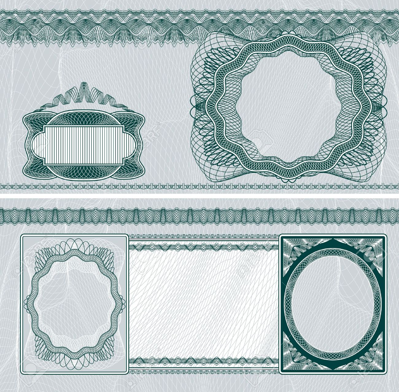 Blank Layout For Banknote Bank Check Or Voucher With Obverse – Blank Voucher
