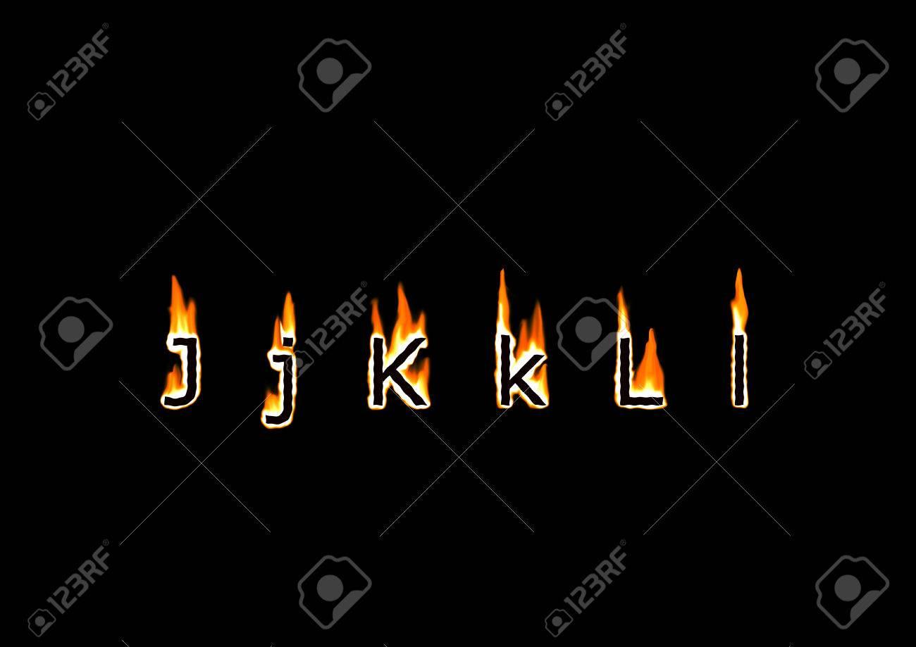Letters j k l of alphabet in fire stock photo picture and royalty letters j k l of alphabet in fire stock photo 22465330 altavistaventures Images