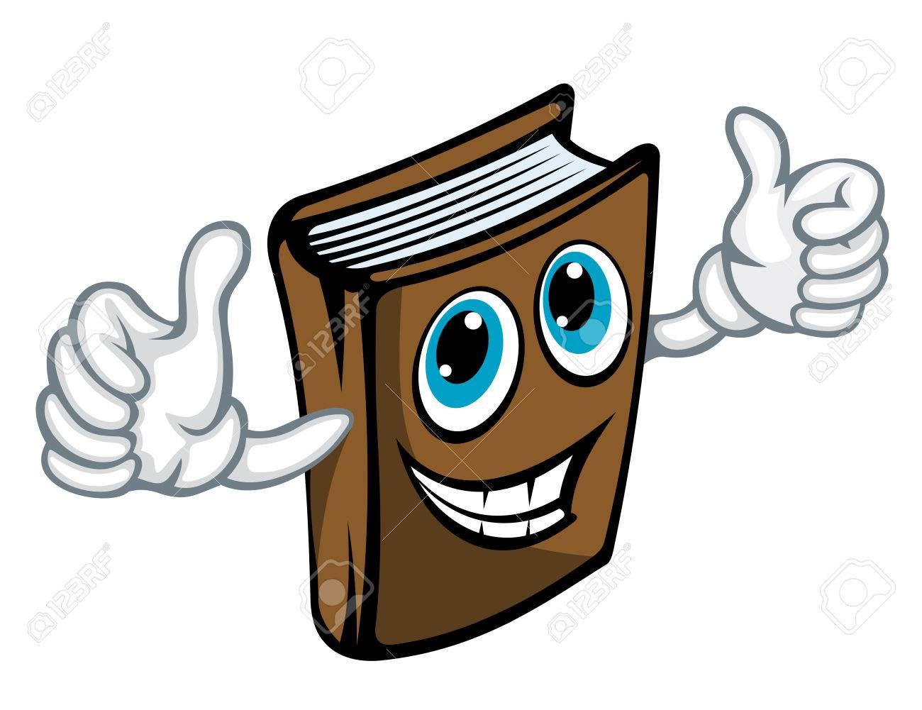 Cartoon book makes good gesture. Vector illustration Stock Vector - 22472365