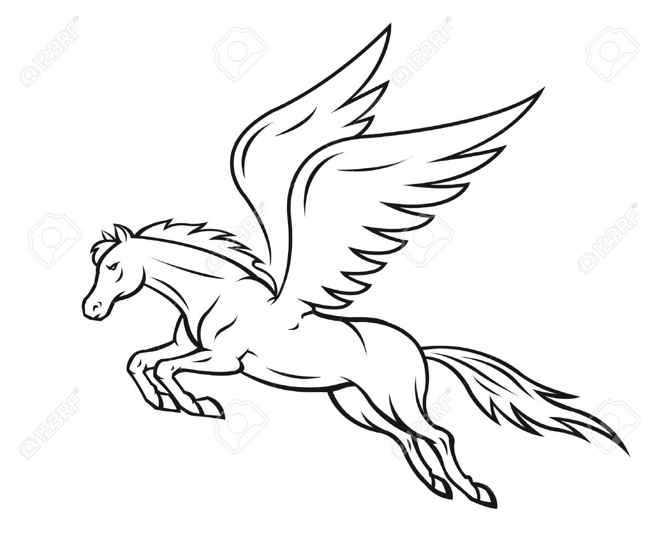 White Pegasus Horse With Wings Vector Illustration Royalty Free Cliparts Vectors And Stock Illustration Image 22473215