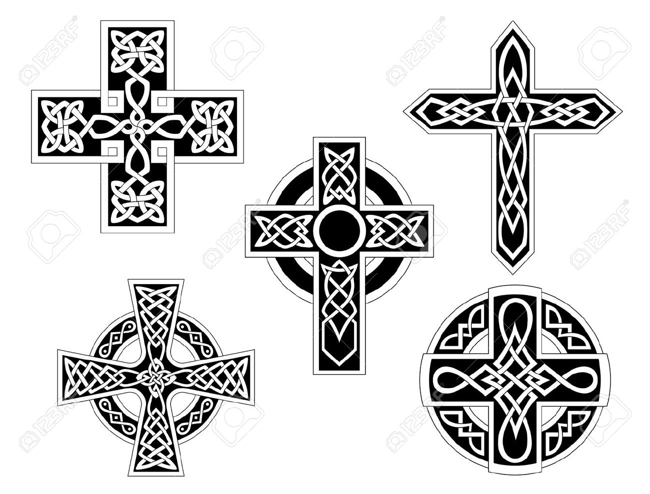 Set of irish celtic crosses vector illustration royalty free set of irish celtic crosses vector illustration stock vector 22473391 biocorpaavc Image collections