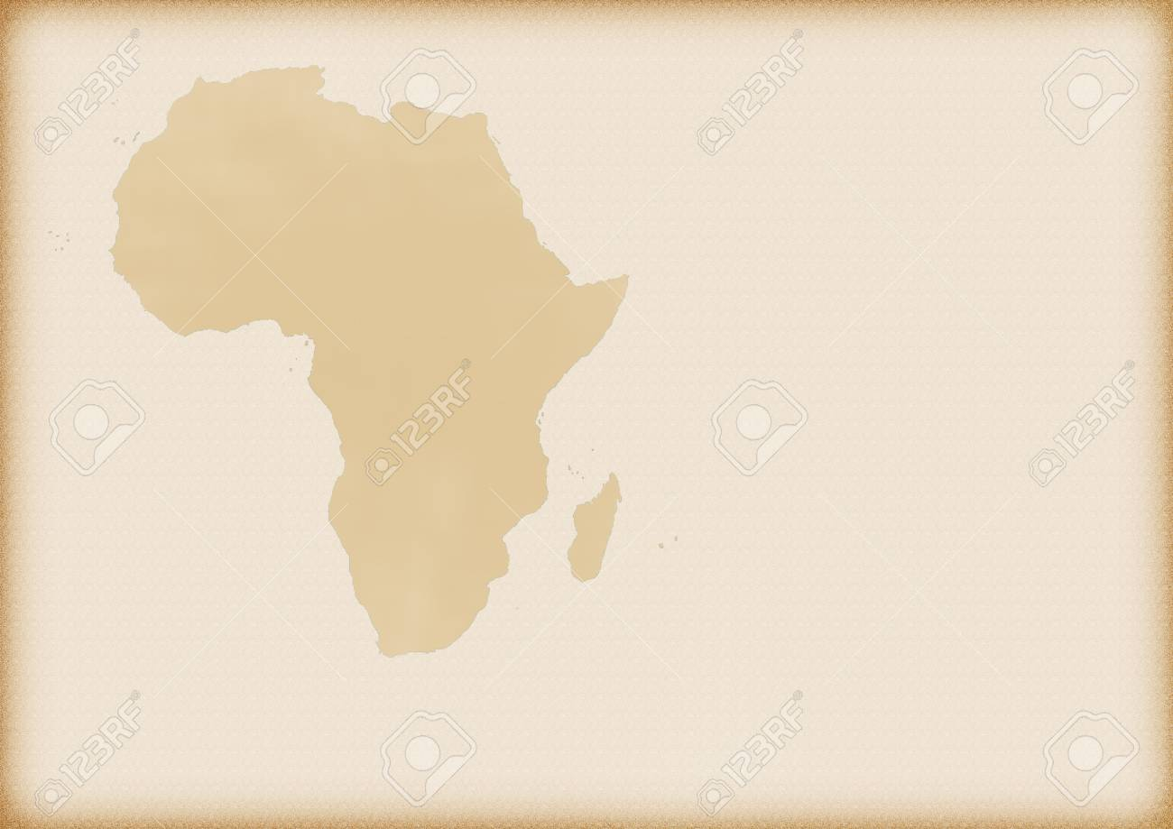 Old Map Of Africa As A Background Stock Photo, Picture And Royalty ...