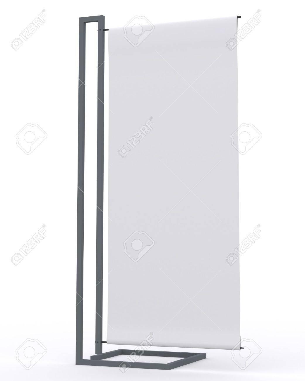 Pantalla En Blanco Banner Nuevo Diseño De Aluminio Plantilla De ...