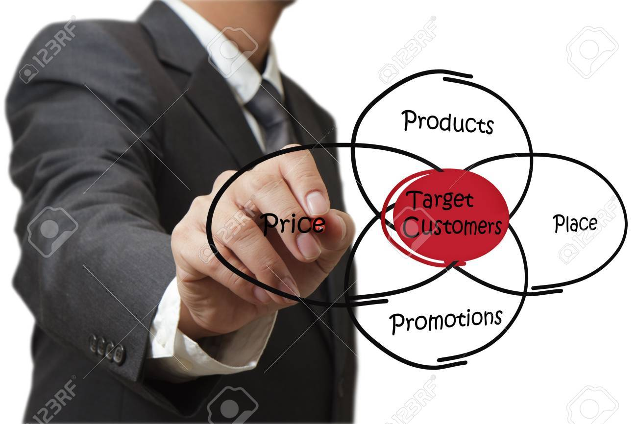 businessman draws target cstomers Stock Photo - 11739511