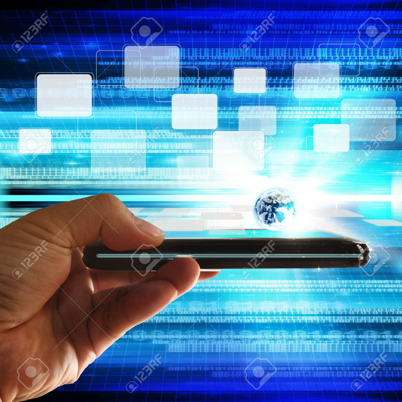 Touch screen mobile phone Stock Photo - 12602108