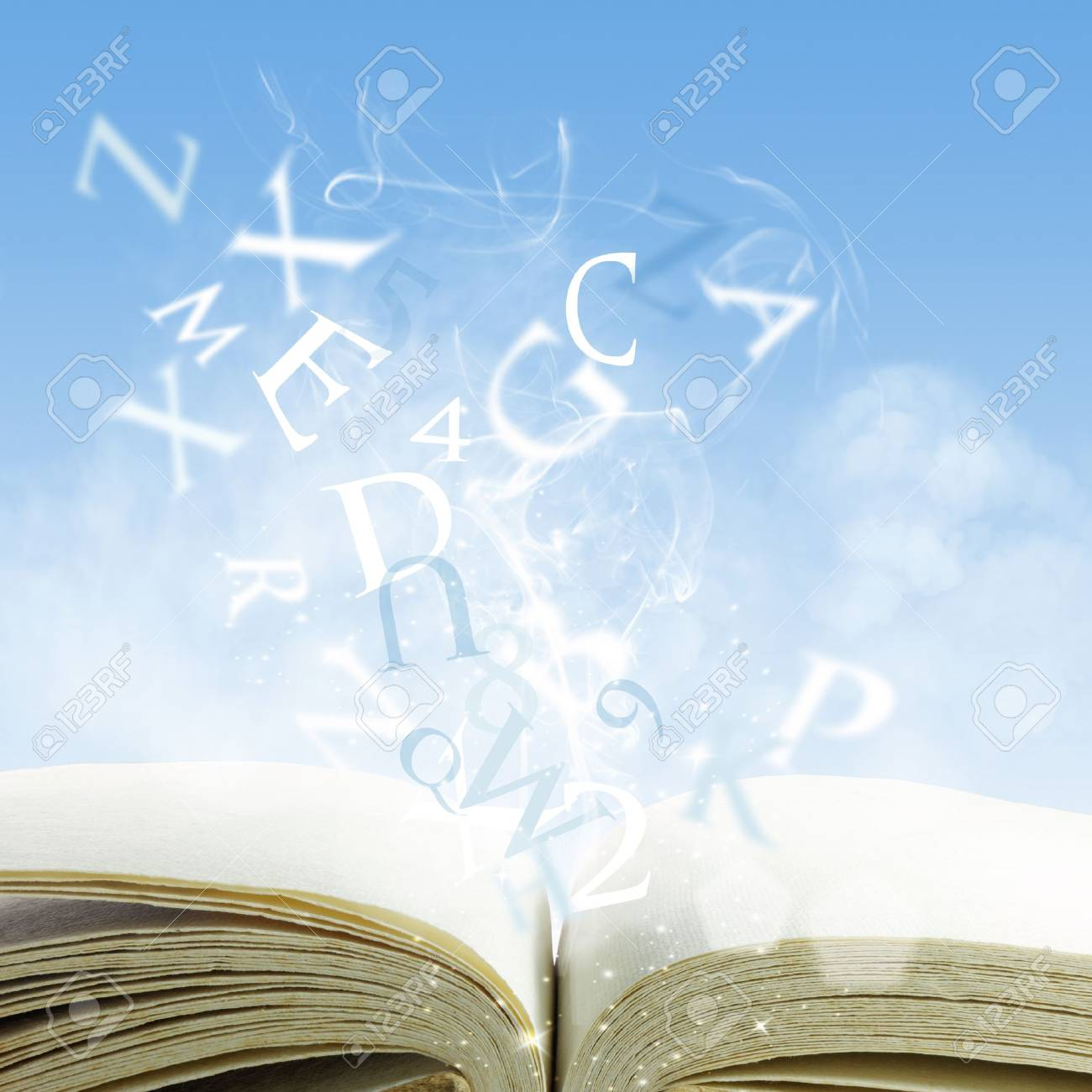 open book on a cloud Stock Photo - 12602076