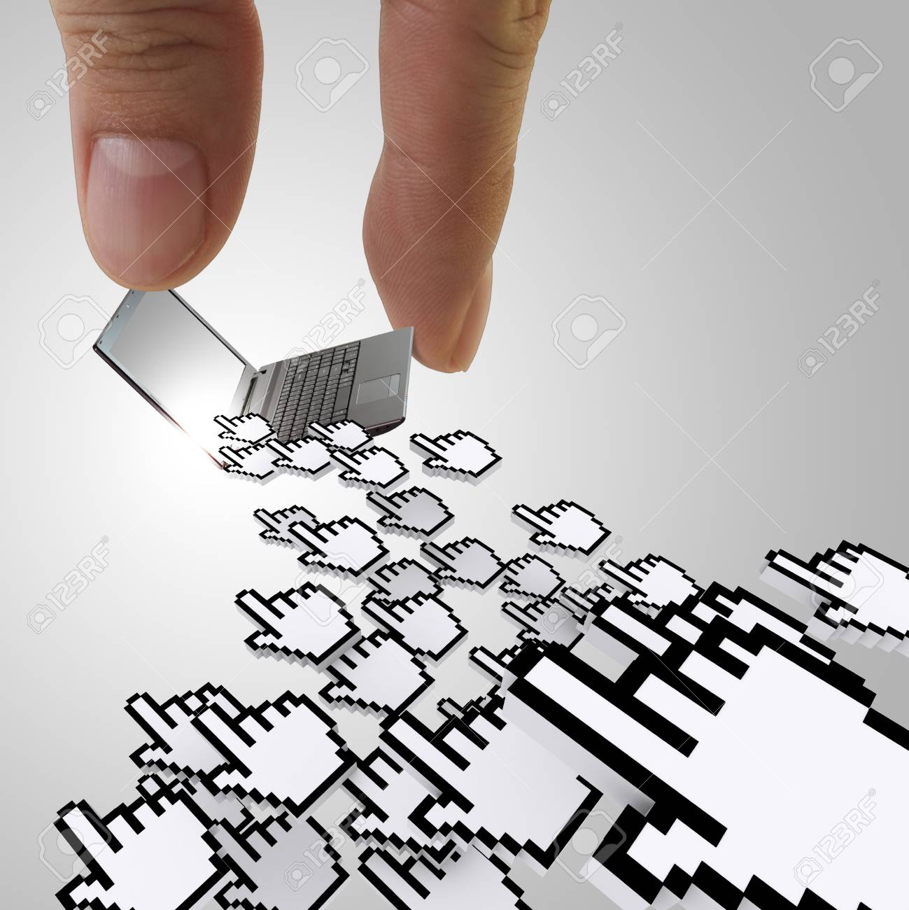 fingers picking website traffic concept Stock Photo - 13552948