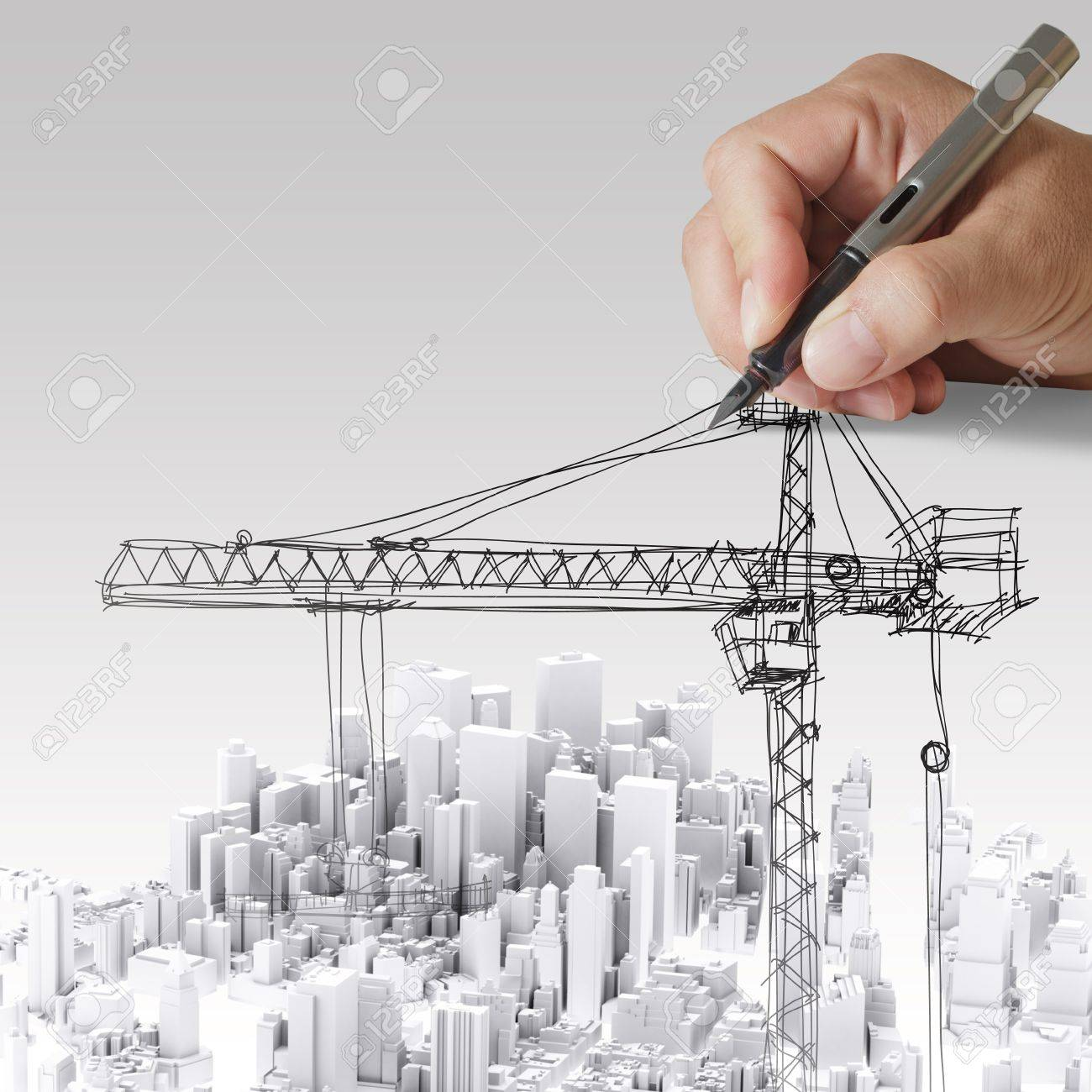 hand drawn building development concept Stock Photo - 14136183