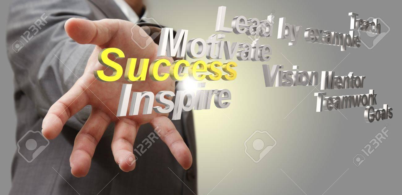 business man hand shows 3d metallic success diagram as concept Stock Photo - 14136184