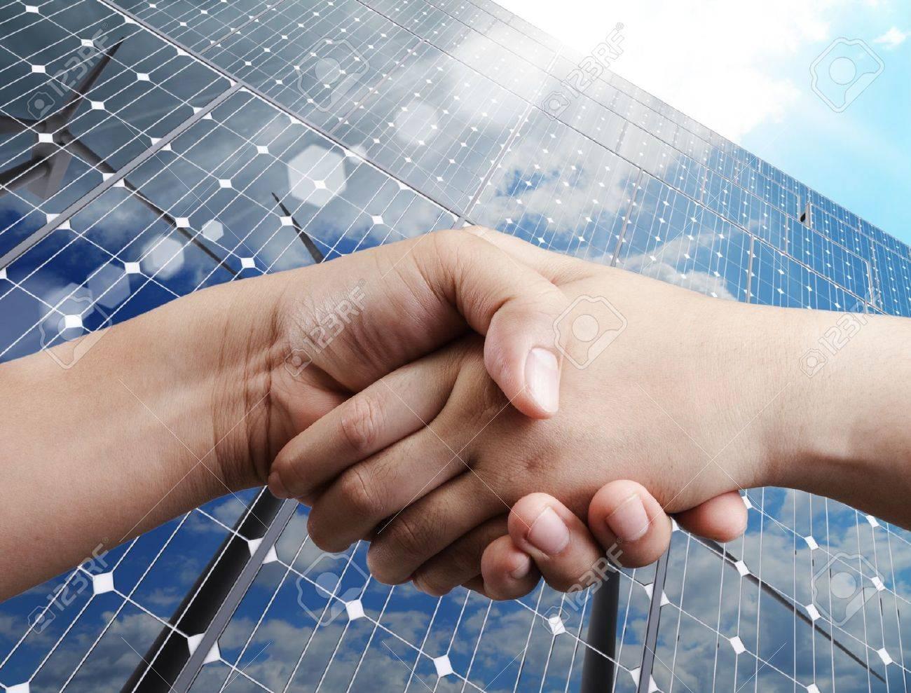 handshake and sunlight background Stock Photo - 14731750