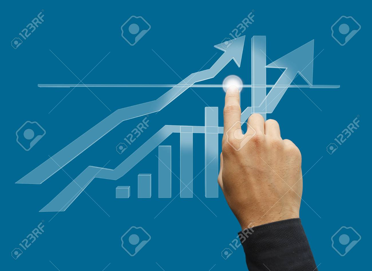 Business hand working business Stock Photo - 16087675